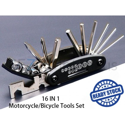 16 IN 1 Motorcycle / Bicycle Tools Set