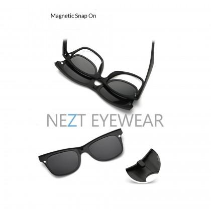 6 in 1 Retro Frame Nezt01 Magnetic Snap-On Glasses